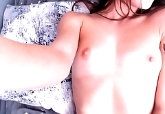 Amazing hot girl with dildo fucks herself to orgasm