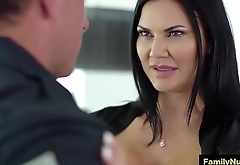 Big ass milf suck dick of police guy during massage