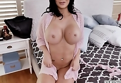 MILF star Jasmine Jae looks stunning in a fishnet outfit while deepthroating a giant cock with an intensity that only a horny MILF can provide.