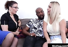 Naughty Nympho Nina Kayy Fucks Her Man &amp_ Attorney Sara Jay!