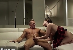 SweetSinner Gia &amp_ Stepdad Have Romantic, Sensual Sex
