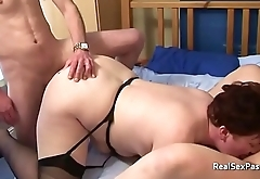 Stretch marked big belly mature wife swapping