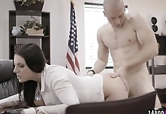A smarmy looking cock in Angela'_s pussy