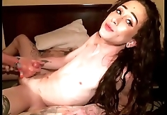 Teen Trans Takes It Up Her Butthole