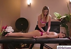 Masseuse Haley pounds Detective Abellas pussy