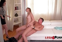Sizzling hot vixens Chelsy Sun &amp_ Crystal Greenvelle go for dirty cum swap GP346