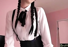 cutest Schoolgirl is my stepsister and i fuck her hard
