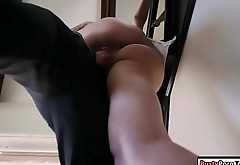 Teen babe sucks bfs dick after studying