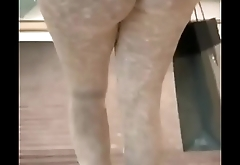 FOUND OLD VID STOLEN FROM MY OLD PAGE ME &amp_ MY CO WORKER COMIN OUT HER BUILDIN AS I RECORD HER BIG ASS