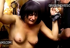 Old whore whole body shaking with pain