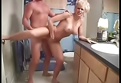 Blonde amateur Milf Raquel fucked while her big tanlined tits bounce