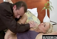 Hot Blonde MILF Carla Cox Takes a Hardcore Pounding in All Three Holes