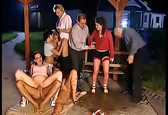 piss orgy outdoor