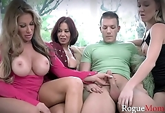 LUCKY GUY gets to fuck MILF MOMS