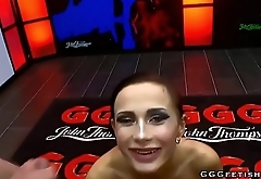 Czech brunette nicole swallows dicks in gangbang bukkakes