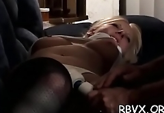 Ditry bitch gets absolutely bounded and titillated by a toy