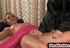 Perfect wet pussy gets licked by masseuse - Brandy Aniston &amp_ Jessa Rhodes